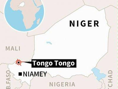 """Des soldats ont été tués mercredi au Niger dans une attaque """"probablement terroriste"""" contre une patrouille américano-nigérienne dans le village de Tongo Tongo dans la zone de Tillabéri près du Mali    Vincent LEFAI [AFP]"""