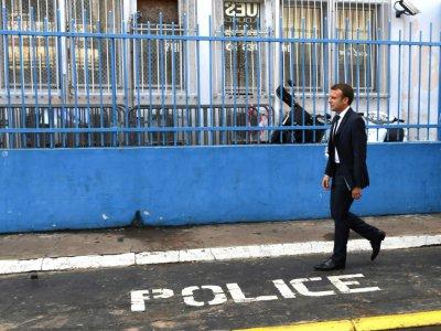 Le président français Emmanuel Macron, le 27 octobre à Cayenne - ALAIN JOCARD [AFP]