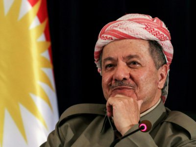 Massoud Barzani, le 24 septembre 2017 à Erbil