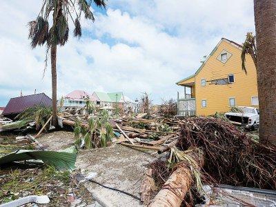 Une photographie prise le 7 septembre 2017, montrant les dégâts causés par Irma sur l'île de Saint-Martin    Lionel CHAMOISEAU [AFP/Archives]
