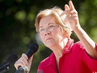La sénatrice du Massachusetts Elizabeth Warren, le 18 octobre 2017 à Washington lors d'une manifestation    SAUL LOEB [AFP]