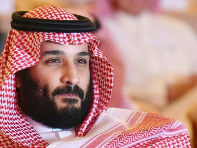 Photo du prince héritier saoudien Mohammed ben Salmane, le 24 octobre 2017 lors d'une conférence à Ryad - FAYEZ NURELDINE [AFP/Archives]