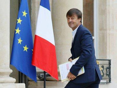 Le ministre de la Transition écologique Nicolas Hulot, ici le 5 novembre 2017 à l'Elysée, a assuré  que la France ne votera pas en faveur de cette nouvelle proposition    LUDOVIC MARIN [AFP/Archives]