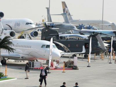 Au salon aéronautique de Dubai, le 12 novembre 2017 - KARIM SAHIB [AFP/Archives]