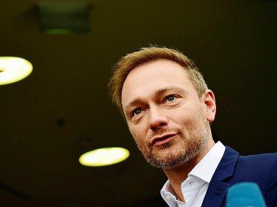 Le chef du FPD Christian Lindner arrive à Berlin pour l'éventuelle formation d'un nouveau gouvernement, le 18 novembre 2017 à Berlin    Tobias Schwarz [AFP]