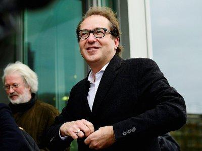 Alexander Dobrindt, membre de la CSU, parti bavarois allié de Mme Merkel arrive à Berlin, le 18 novembre 2017    Tobias Schwarz [AFP]