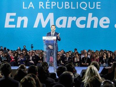Christophe Castaner, responsable de La République en marche, le 18 novembre 2017 à Lyon    JEAN-PHILIPPE KSIAZEK [AFP]