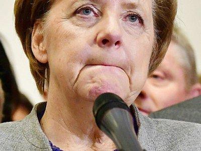 La chancelière allemande Angela Merkel, le 19 novembre 2017    Tobias SCHWARZ [AFP]