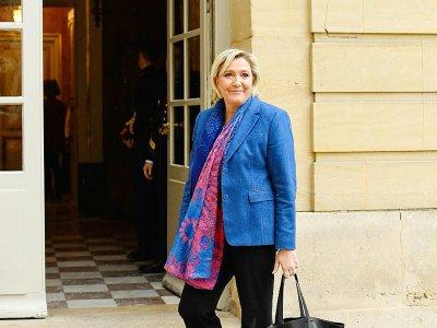 Marine Le Pen reçue à l'Hôtel Matignon par le Premier ministre Edouard Philippe le 29 novembre 2017    BERTRAND GUAY [AFP/Archives]