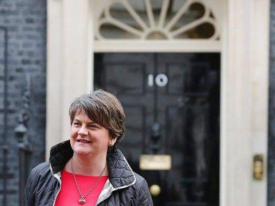 La responsable du Parti unioniste démocrate d'Irlande du Nord Arlene Foster le 21 novembre 2017 à Londres    Daniel LEAL-OLIVAS [AFP/Archives]