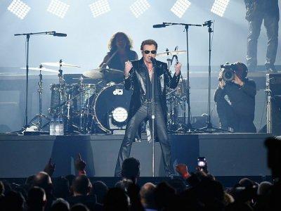 Johnny Hallyday sur scène à Bruxelles, le 26 mars 2016 - PATRIK STOLLARZ [AFP/Archives]