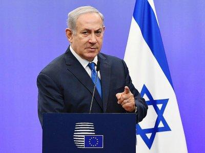 Benjamin Netanyahu le 11 décembre 2017 lors d'une conférence de presse à Bruxelles    EMMANUEL DUNAND, EMMANUEL DUNAND [AFP]