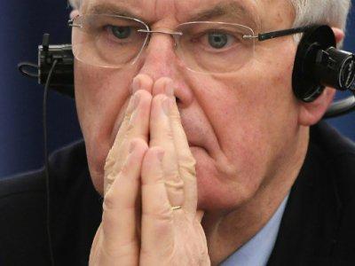 Michel Barnier au Parlement européen à Strasbourg le 13 décembre 2017    FREDERICK FLORIN [AFP/Archives]