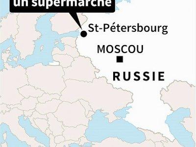 Plusieurs personnes ont été blessées mercredi dans une explosion dans un supermarché de Saint-Pétersbourg (nord-ouest de la Russie)    Sabrina BLANCHARD [AFP]