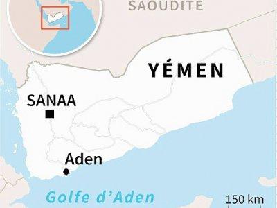 Carte du Yémen localisant Aden - Valentina BRESCHI [AFP]