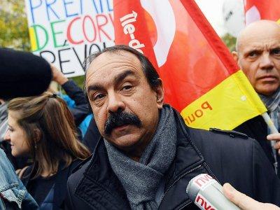 Le leader de la CGT Philippe Martinez le 16 novembre 2017 à Paris    CHRISTOPHE ARCHAMBAULT [AFP/Archives]