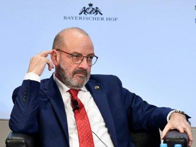 Le ministre libanais de la Défense Riad Sarraf participe à une table ronde pendant la Conférence de Munich sur la sécurité, le 13 février 2018    THOMAS KIENZLE [AFP]