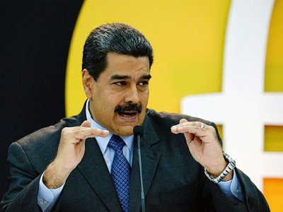 Nicolas Maduro, le 20 février 2018 à Caracas    FEDERICO PARRA [AFP]