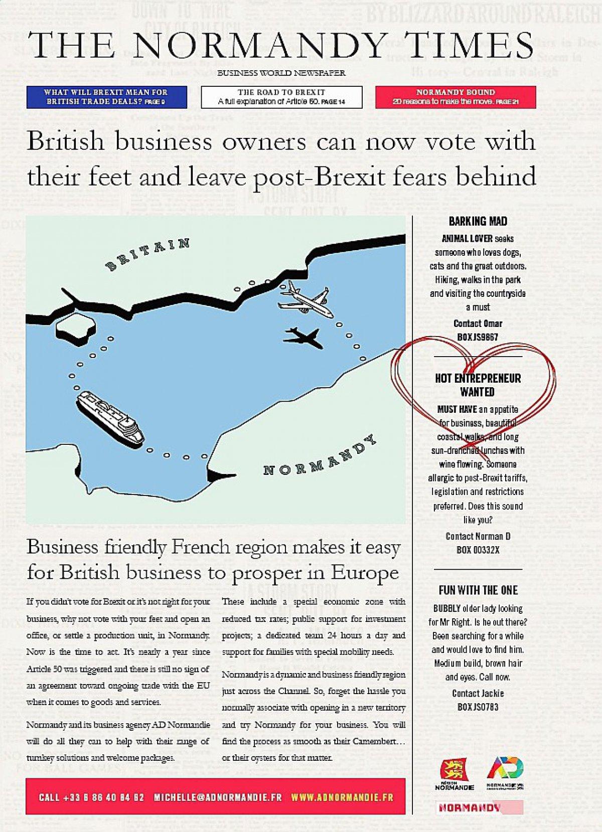 Hot entrepreneur wanted la campagne post brexit de la - Comment deposer une main courante ...