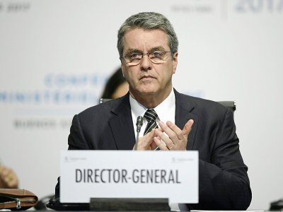 Le directeur général de l'OMC,  Roberto Azevedo, à Buenos Aires, Argentine, le 13 décembre 2017 - JUAN MABROMATA [AFP/Archives]