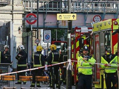 La station de métro Parsons Green à Londres, le jour de l'attentat qui a fait 51 blessés, le 15 septembre 2017 - Daniel LEAL-OLIVAS [AFP/Archives]