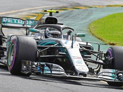 Le Finlandais Valtteri Bottas (Mercedes) lors de la 3e et dernière partie des qualif. du GP d'Australie de F1, le 24 mars 2018 à Melbourne - Paul Crock [AFP]