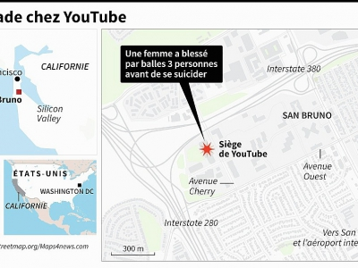 Fusillade chez You Tube    © Laurence CHU [AFP]