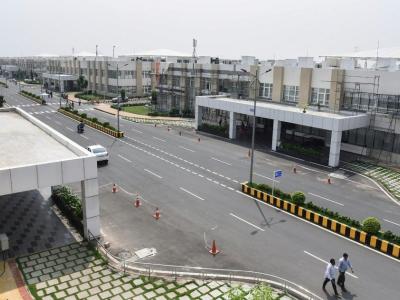 Photo prise le 7 avril 2018 et fournie le 22 mai par l'Etat indien d'Andhra Pradesh de la ville en construction Amaravati    - [AFP]