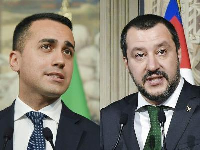 Les leaders du Mouvement 5 étoiles Luigi Di Maio (à gauche) et de la Ligue Matteo Salvini    Tiziana FABI [AFP/Archives]
