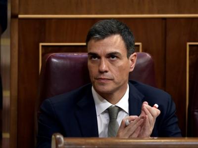 Le leader du Parti socialiste ouvrier espagnol Pedro Sanchez, le 31 mai 2018 au Parlement à Madrid    OSCAR DEL POZO [AFP]