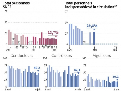 Grèves à la SNCF     [AFP]