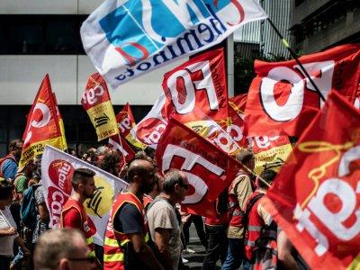 Manifestation de cheminots le 12 juin 2018 à Lyon    JEFF PACHOUD [AFP]