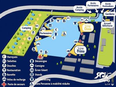 Le plan du festival.    Rock in Évreux by GHF
