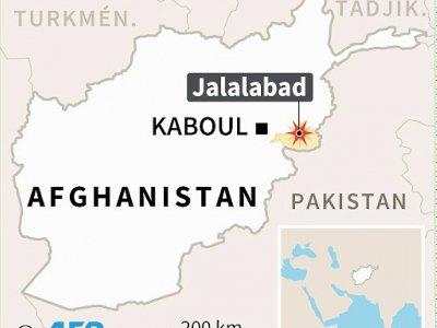 Localisation de Jalalabad (Afghanistan) où plusieurs personnes, dont des membres de la minorité sikhe, ont été tuées dans un attentat contre un marché dimanche    Kun TIAN [AFP]