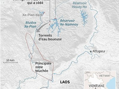 Laos : effondrement d'un barrage