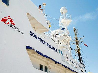 L'Aquarius, le bateau humanitaire de SOS Méditerranée et de Médecins sans frontières le 20 juin 2018 - PAU BARRENA [AFP/Archives]