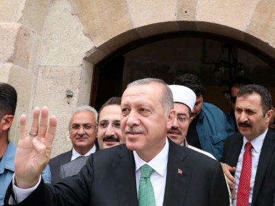 Le président turc Recep Tayyip Erdogan, le 10 août 2018 à Bayburt    Murat KULA [TURKISH PRESIDENTIAL PRESS SERVICE/AFP]