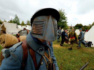 Des passionnés font revivre les affres de Verdun, symbole de la Grande Guerre, le 24 août 2018 à Verdun (Meuse)    FRANCOIS NASCIMBENI [AFP]