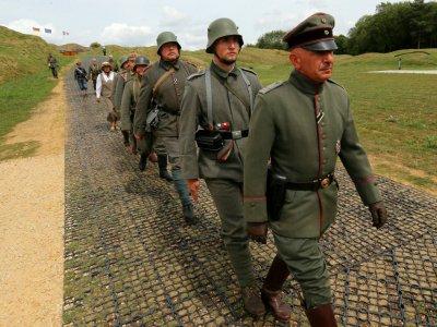 Des passionnés font revivre les affres de Verdun, symbole de la Grande Guerre, le 24 août 2018 à Fort Douaumont, près de Verdun (Meuse)    FRANCOIS NASCIMBENI [AFP]