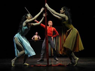 Les danseurs de la Martha Graham Company, au Joyce Theater, à New-York, le 13 mars 2012.    TIMOTHY A. CLARY [AFP/Archives]