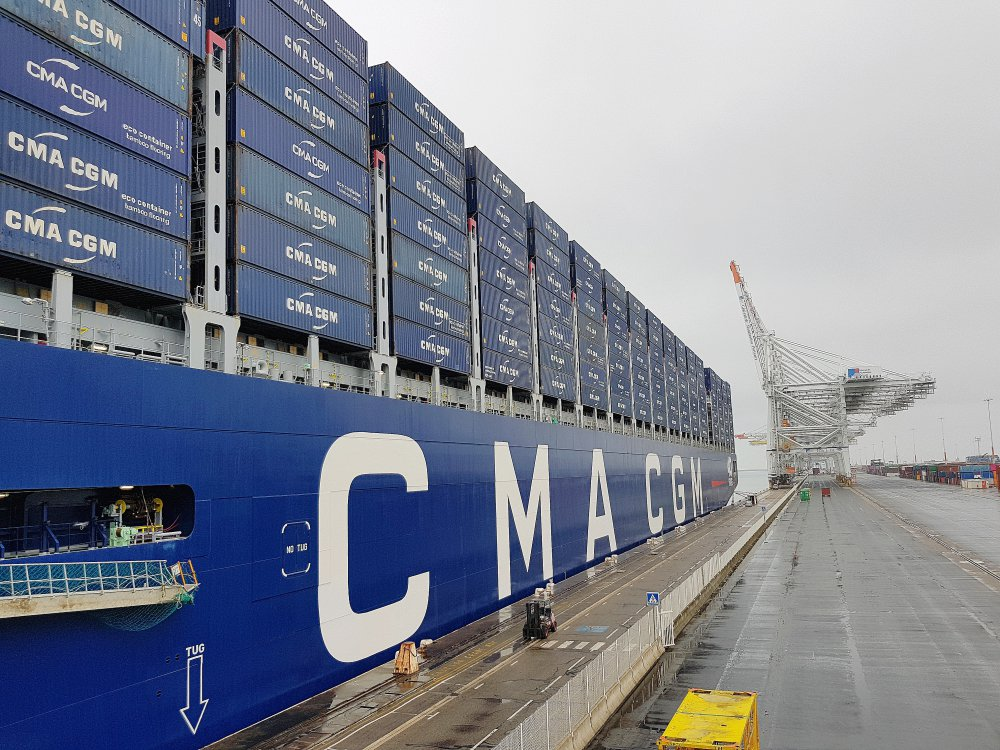 Le havre inauguration du plus grand porte conteneurs - Le plus grand porte conteneur du monde au havre ...