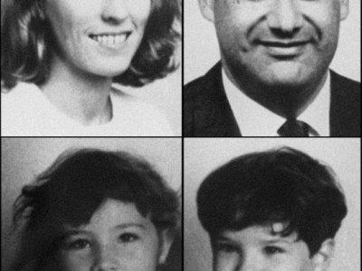 Montage des photos d'identité non datées de Jean-Claude Romand, de sa femme Florence et de leurs deux enfants Caroline et Antoine    STF [AFP/Archives]