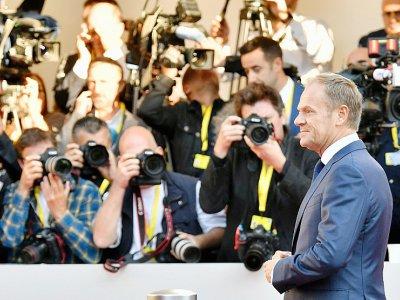 Le président du Conseil européen Donald Tusk, le 20 septembre 2018 à Salzbourg, en Autriche - BARBARA GINDL [APA/AFP]
