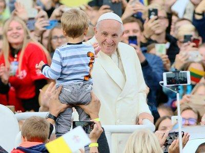 Le pape François le 22 septembre 2018 à Vilnius    Petras Malukas [AFP]