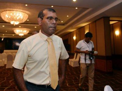 L'ancien président des Maldives Mohamed Nasheed, le 23 septembre 2018 à Colombo, au Sri Lanka    LAKRUWAN WANNIARACHCHI [AFP]