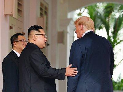 Donald Trump est le seul président américain à avoir rencontrer un représentant de la dynastie Kim, qui règne sans partage sur la Corée du Sud depuis 1948 - SAUL LOEB [AFP/Archives]