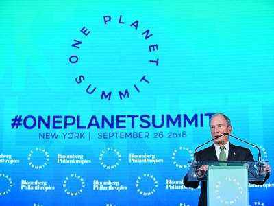 Michael Bloomberg au One Planet Summit, le 26 septembre 2018 à New York