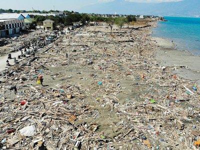 Vue aérienne de Palu, sur l'île des Célèbes en Indonésie, le 1er octobre 2018 après un séisme et le passage d'un tsunami    JEWEL SAMAD [AFP]