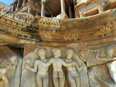 Un site dans la cité antique de Sabratha, inscrite sur la liste du patrimoine mondial en péril, le 1er septembre 2018 en Libye    MAHMUD TURKIA [AFP]