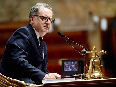 Le président de l'Assemblée nationale Richard Ferrand, dans l'hémicycle de l'Assemblée à Paris le 3 octobre 2018 - Thomas SAMSON [AFP/Archives]
